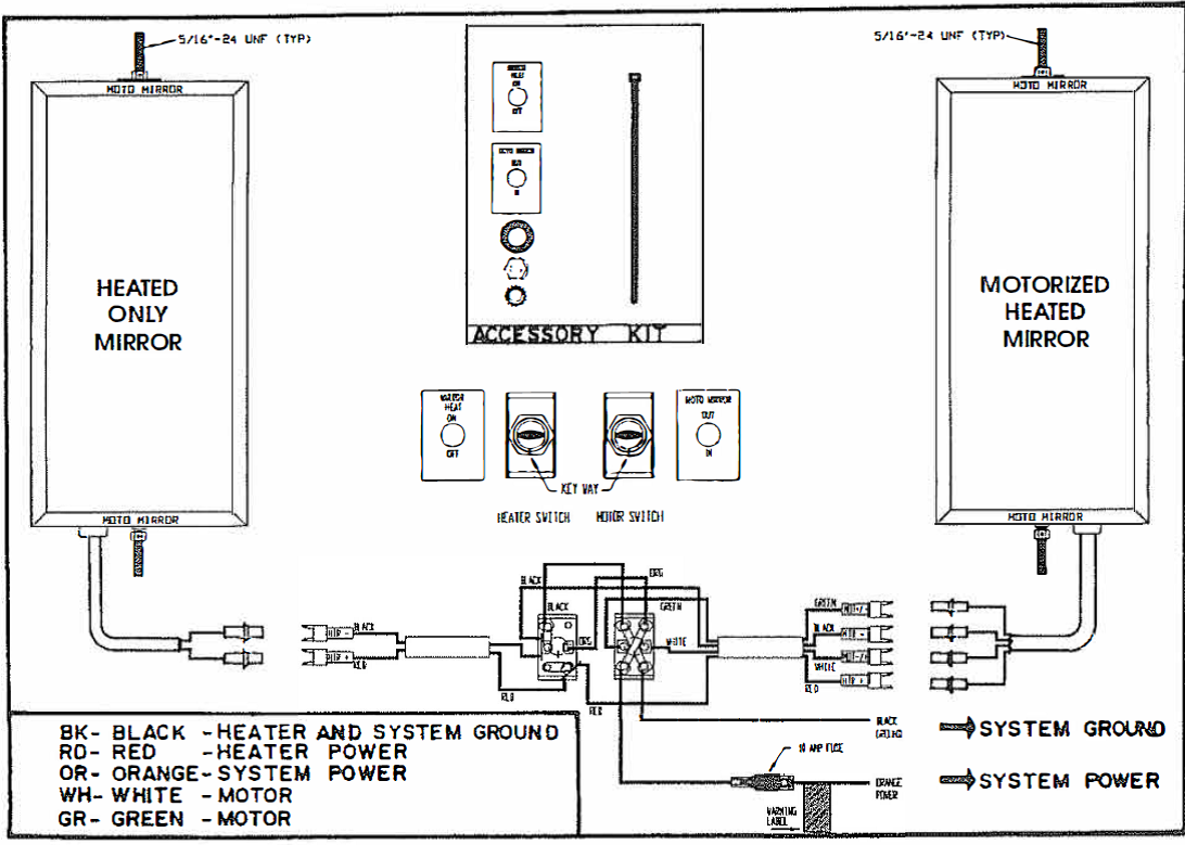 heated mirror wiring diagram